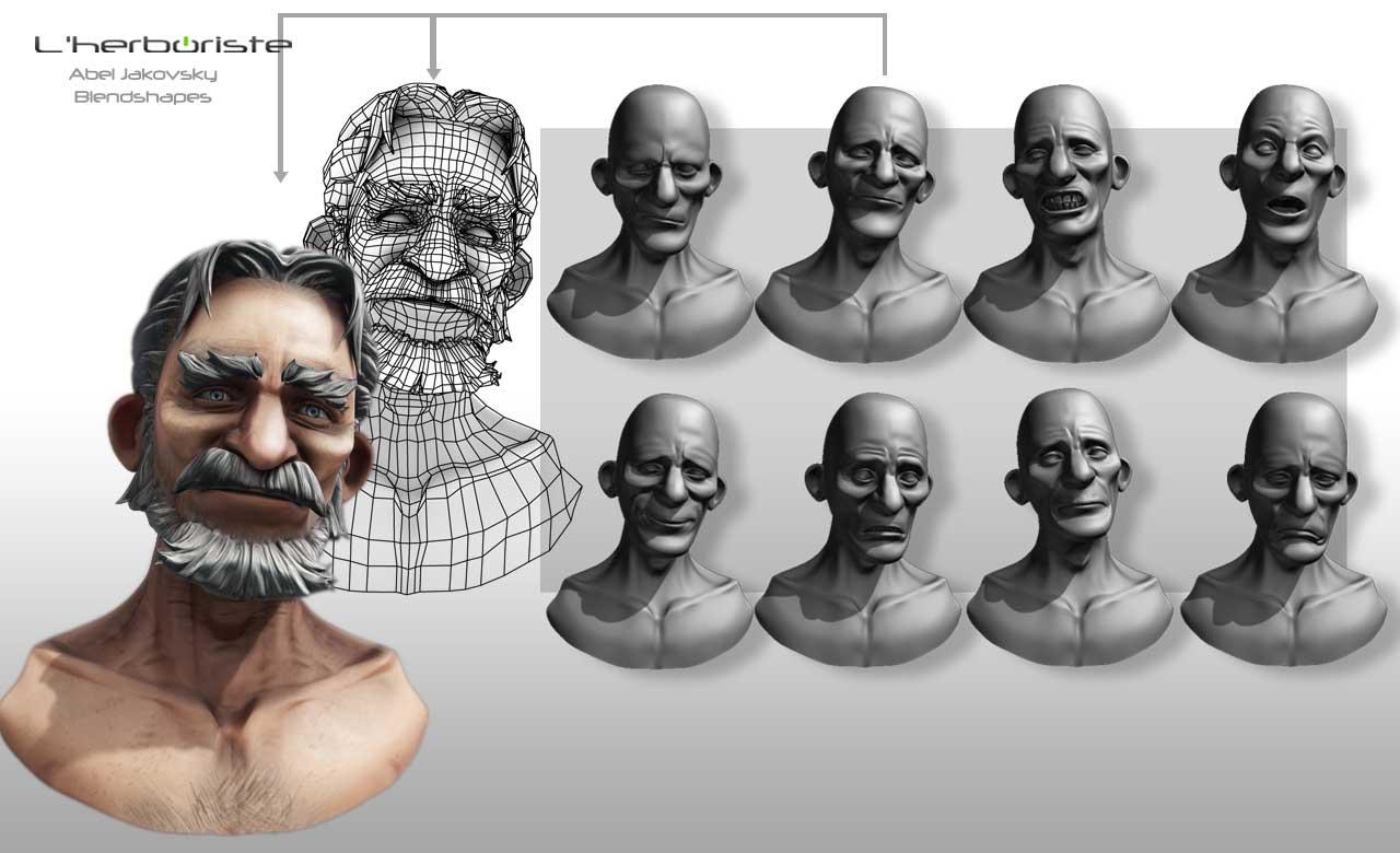 Herboriste_modelisation_abel_planche03_blendshapes